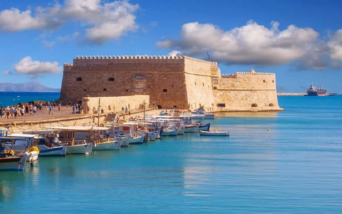 The big venitian castle of Koule in Heraklion.